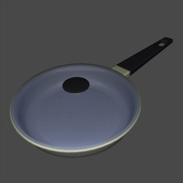 frying pan 3d model 3ds 97468