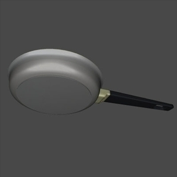 frying pan 3d model 3ds 97470