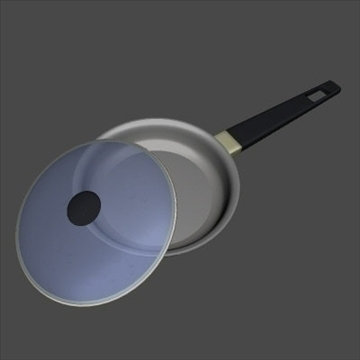 frying pan 3d model 3ds 97471