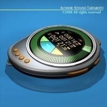future chronometer 3d model 3ds dxf c4d obj 89672