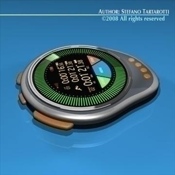 future chronometer 3d model 3ds dxf c4d obj 89673
