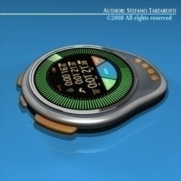 future chronometer 3d model 3ds dxf c4d obj 89674