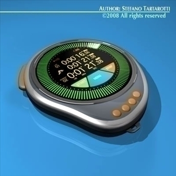 future chronometer 3d model 3ds dxf c4d obj 89675