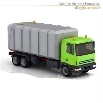 ciężarówka do transportu śmieci 3d model 3ds dxf c4d obj 102738