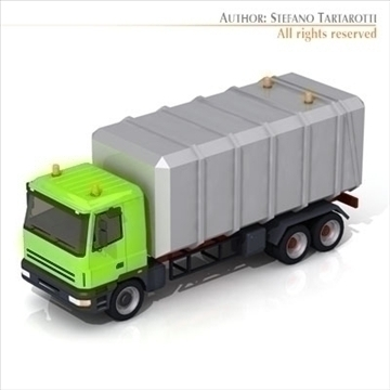 garbage transport truck 3d model 3ds dxf c4d obj 102739