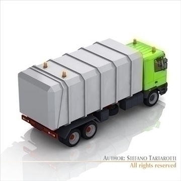 garbage transport truck 3d model 3ds dxf c4d obj 102740