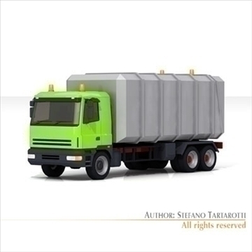 garbage transport truck 3d model 3ds dxf c4d obj 102741