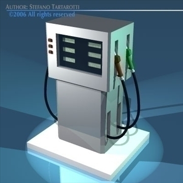 gas pump 3d model 3ds dxf obj other 81052