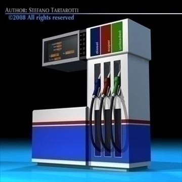 gas pump2 3d model 3ds dxf c4d obj 88286