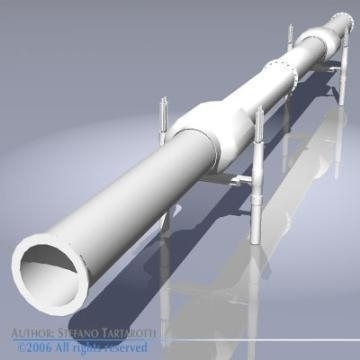 gasoil heat pipeline 3d model 3ds dxf obj 78610