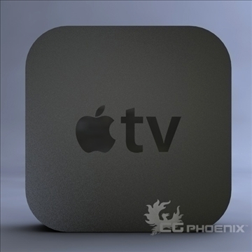 gen3 apple tv 3d model 3ds dxf fbx c4d x  obj 107125
