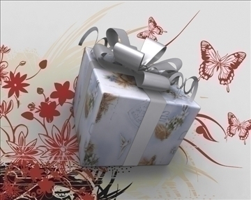 gift box package 3d model 3ds max obj 97277