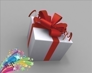 gift box package 3d model 3ds max obj 97278