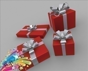 gift box package 3d model 3ds max obj 97279