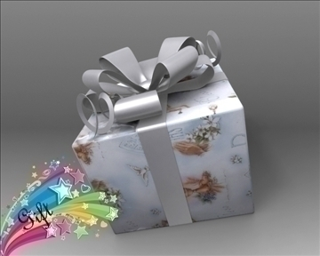 gift box package 3d model 3ds max obj 97280