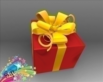 gift box package 3d model 3ds max obj 97281