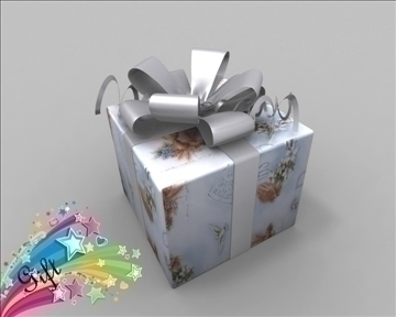 gift box package 3d model 3ds max obj 97282