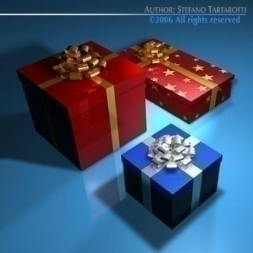 gift boxes 3d model 3ds dxf c4d obj 78463