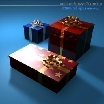 gift boxes 3d model 3ds dxf c4d obj 78465