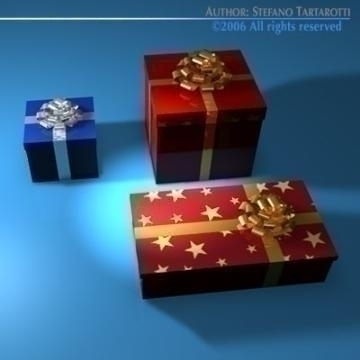 gift boxes 3d model 3ds dxf c4d obj 78466