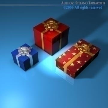 gift boxes 3d model 3ds dxf c4d obj 78467