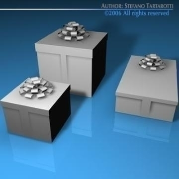 gift boxes 3d model 3ds dxf c4d obj 78468