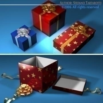 gift boxes collection 3d model 3ds dxf c4d obj 78453