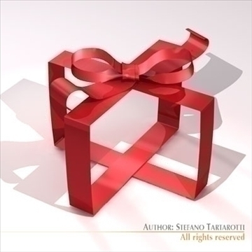 gift ribbon 3d model 3ds dxf c4d obj 101387