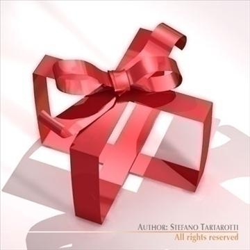 gift ribbon 3d model 3ds dxf c4d obj 101388