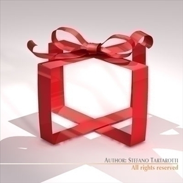gift ribbon 3d model 3ds dxf c4d obj 101389