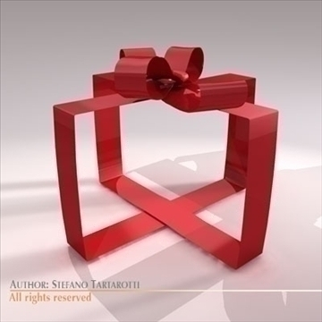 gift ribbon 3d model 3ds dxf c4d obj 101390