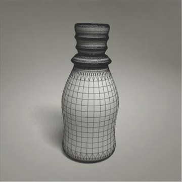 glass bottle 3d model 3ds max fbx obj 108019