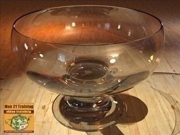 stiklinis dubenėlis su 3d modeliu 107720