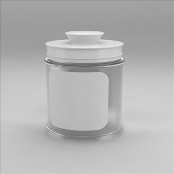 glass jar 3d model 3dm other obj 100550