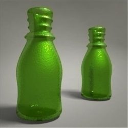 glass bottle ( 53.52KB jpg by 3DGL )