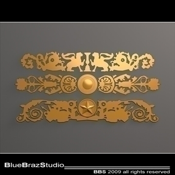 gold decoration 3d model 3ds dxf c4d obj 101549