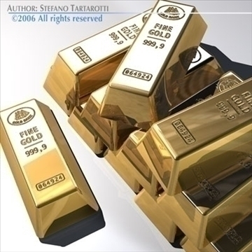 goldbars 3d model 3ds dxf c4d obj 82015