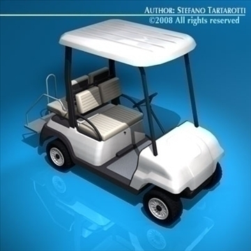 golf cart 4 seats 3d model 3ds dxf c4d obj 88518