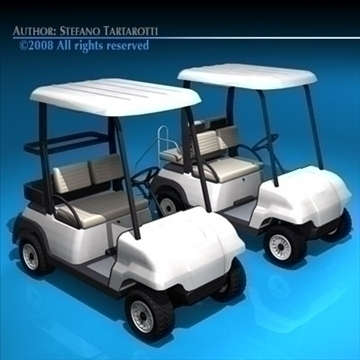 golfcart collection 3d model 3ds dxf c4d obj 88411