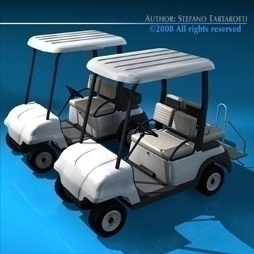 golfcart collection 3d model 3ds dxf c4d obj 88412