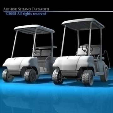 golfcart collection 3d model 3ds dxf c4d obj 88413