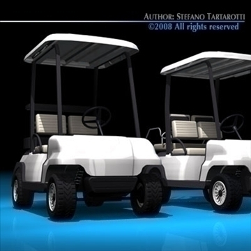 golfcart collection 3d model 3ds dxf c4d obj 88414