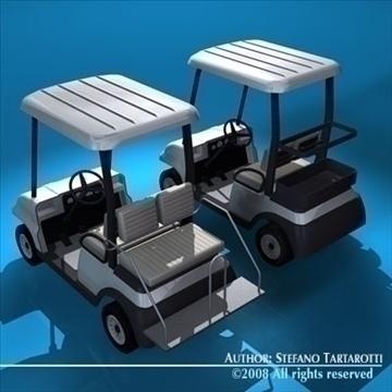 golfcart collection 3d model 3ds dxf c4d obj 88415