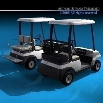 golfcart collection 3d model 3ds dxf c4d obj 88417