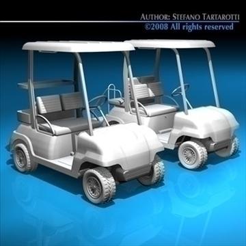 golfcart collection 3d model 3ds dxf c4d obj 88418