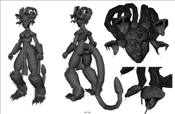 gorgon medusa 3d model ma mb 102224