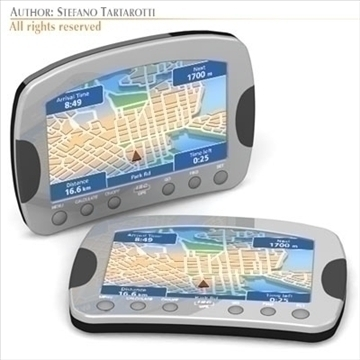 gps device 3d model 3ds dxf c4d obj 105975