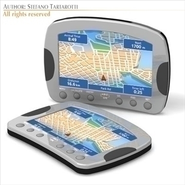 gps device 3d model 3ds dxf c4d obj 105977