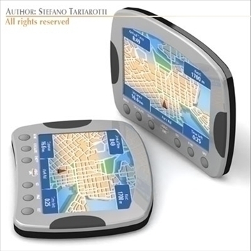 gps device 3d model 3ds dxf c4d obj 105978