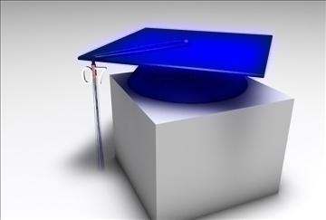 graduation cap 3d model 3ds c4d texture 109285